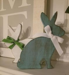 6 or 8 Custom Wood Shelf Bunny – Plush This listing is for one 6 Bunny Crafts, Easter Crafts, Easter Decor, Spring Crafts, Holiday Crafts, Holiday Ideas, D N Angel, Bunny Painting, Wooden Rabbit