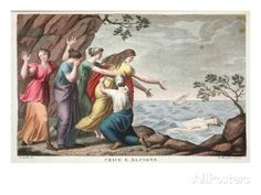 Ceyx and Alcyone, Book XI, Illustration from Ovid's Metamorphoses, Florence, 1832 Giclee Print by Luigi Ademollo at AllPosters.com