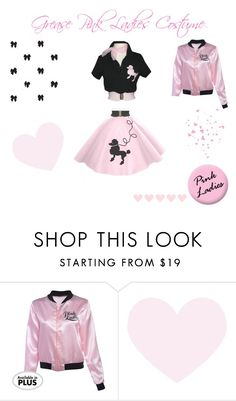 """""""♡ Grease Pink Ladies Halloween Costume ♡"""" by kaylalovesowls ❤ liked on Polyvore featuring Cavern"""