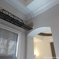 Model Train Running Along The Ceiling From Room To Room Dream House Pinterest Models