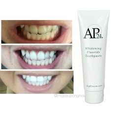 Whitening toothpaste! Message me for more info   #whiteningtoothpaste #nuskin…