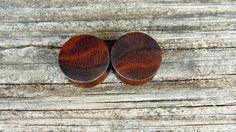 25mm Black Walnut ear plugs, One inch hand turned wooden gauges, organic wood plugs by MustLoveWoodPlugs on Etsy