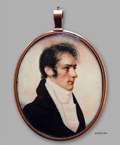 Antiques & Fine Art - Elle Shushan Fine Portrait Miniatures - Portrait of Charles Richards