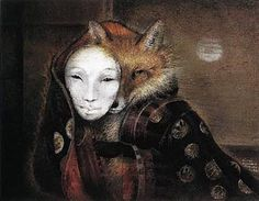 Susan Seddon Boulet - oh yes, a fox wearing the mask of a woman is a Trickster indeed!