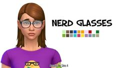 Around the Sims 4 | Nerd glasses Tiniest update of the Tiny Updates history! ;) Just like for Sims 3, I needed some nerd glasses for Sims 4, so I've added a bit of adhesive, few more colors, and that's it! :D PS: I got a request for making my acnee...