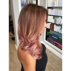 Soft and Rosy I love the dimension of a Balayage topped with a soft pastel xoxo #behindthechair #platinumsalontampa