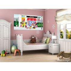 Disney Minnie and Clarabelle's store Giant Poster Minnie Mouse Wall Decals, Mickey Mouse, Bbg, Disney Wall Murals, Winnie The Pooh, Diy Sweatshirt, Toddler Bed, Inspiration, Furniture