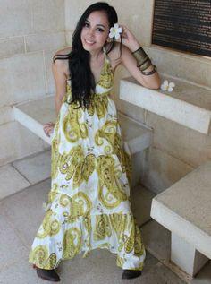 White & yellow long boho dress - The Yellow Sun Dress, $62.00 (http://www.bluseagal.com/the-yellow-sun-dress/)