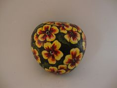 Primrose Flowers Hand Painted Rock Art by GiftOfStone on Etsy