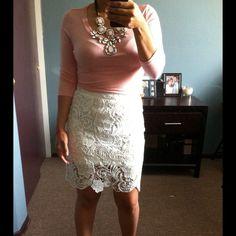 Dresses & Skirts - ✨White embroidered skirt✨