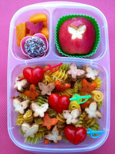Butterflies and hearts lunch