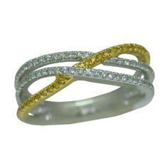 0.50 Cttw. Diamond Ring https://www.goldinart.com/shop/rings/diamond-rings/0-50-cttw-diamond-ring-3 #14KaratYellowAndWhiteGold, #DiamondRing