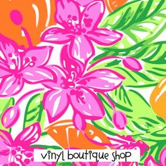 Lilly Inspired Prints 2015 Lilly Inspired Printed Patterned Craft Vinyl