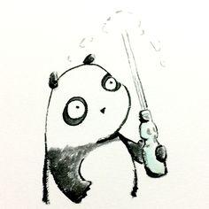 【一日一大熊猫】 2015.5.4 イギリスのレモネードがなまって ラムネと呼ばれるようになったみたいだね。 #ラムネ #パンダ http://osaru-panda.jimdo.com
