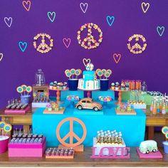 Decoração de mesa para casamento hippie