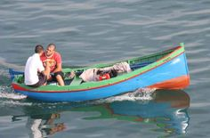 A frejgatina, a small traditional Maltese boat.