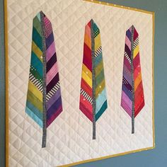 mini rainbow feather quilt - Krista