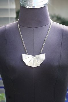 Original 70s Vintage Necklace, Triangle Pendant, #jewelry #necklace @EtsyMktgTool #handmadenecklace #charmnecklace #bohonecklace Boho Necklace, Arrow Necklace, Necklace Lengths, Handmade Necklaces, Bridesmaid Gifts, Vintage, Gift Bags, Silver Plate, Special Gifts