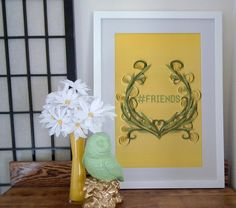 Hashtag Friends paper art print hashtag wall by YakawonisQuilling
