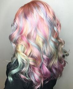 Rainbow hair don't care!!! Loving her pastel curls!