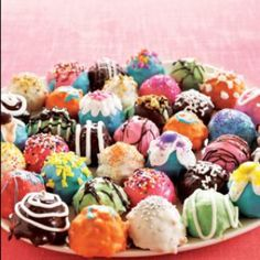 Cake balls - not cupcakes but equally as lovely!