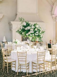 If you love classic elegance, then this is the wedding inspiration for you. From a candlelit barn ceremony filled with greenery as far as the eye could see to a ballroom reception that. Glamorous Wedding, Romantic Weddings, Elegant Wedding, Floral Wedding, Tall Wedding Centerpieces, Reception Decorations, Ashford Estate, Destination Wedding Inspiration, Wedding Ideas