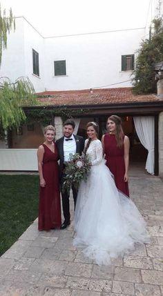 Ersa Atelier wedding dress,  burgundy bridesmaids dress, burgundy wedding bouquet Burgundy Wedding, Italy Wedding, Wedding Dresses, Fashion, Bride Dresses, Moda, Bridal Gowns, Fashion Styles, Wine Colored Wedding