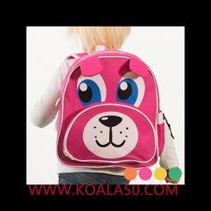 Mochila Infantil Animales - 4,37 €  Si quieres que los más pequeños de la casa empiecen el colegio o la guardería con una sonrisa, regálales la mochila infantil Animales. Dispone de 2 compartimentos con cremalleras y 1 bolsillo...  http://www.koala50.com/regalos-para-ninos/mochila-infantil-animales