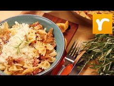 Kantarellpasta med sidfläsk och rosmarin (kock Tommy Myllymäki)
