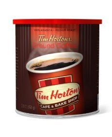 Tim Hortons Ground Coffee Can (Pack of 2) - http://teacoffeestore.com/tim-hortons-ground-coffee-can-pack-of-2/