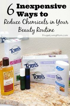 6 Inexpensive Ways to Reduce Chemicals in Your Beauty Routine #ad Looking to reduce your chemical load? Why not start with your beauty products? I have found that natural products often work as well, or better that those filled with chemicals. And I feel much safer using them for myself and my family.