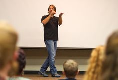 Comedian Keith Wann performed his unique comedy routine combining American Sign Language storytelling and spoken English at Central Michigan University (in Mt. Pleasant, Michigan). Wann, a Child of Deaf Adults (CODA), highlighted funny misunderstandings that can occur between hearing and deaf communities.