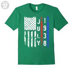 Mens  American Flag July 1938 - 79th Birthday Gifts Funny T-Shirt Medium Kelly Green - Birthday shirts (*Amazon Partner-Link)