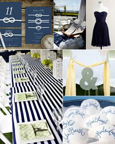 Inspiration Board: Navy & Yellow Nautical