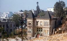 Bunker hill in Los Angeles. Or what's left of it