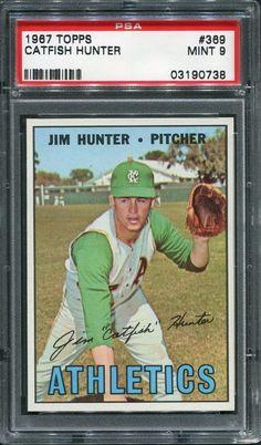"1967 Topps #369 Jim ""Catfish"" Hunter - Kansas City Athletics PSA 9 MINT #KansasCityAthletics"