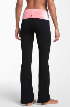 Hard Tail Roll Waist Flare Leg Pants