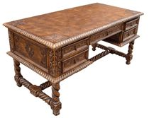 New World Trading Small Salomon Desk, Fleur de Lys, Rustic Western Furniture, Fine Furniture, Custom Furniture, Cowhide Furniture, Furniture Ideas, Western Office, Western Decor, Rustic Decor, Wild West