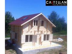"Casa ""Cristian Dragus"" - Case din Lemn Castellan Grid, Outdoor Structures, House Styles, Interior, Home Decor, Houses, Christians, Decoration Home, Indoor"