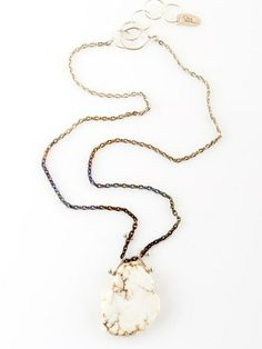 I neeeed this sooo bad!!  White Turquoise Necklace by Sahlia Jewelry