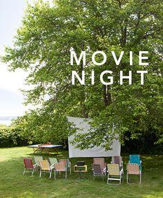 Inspiration to host an outdoor neighborhood movie night!