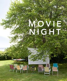 backyard movie night. This would be fun the night before the wedding :)