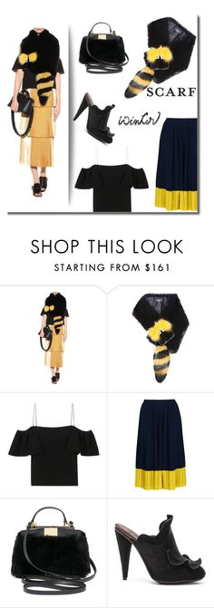 """Winter scarf style!"" by faten-m-h ❤ liked on Polyvore featuring Fendi, Whistles and scarf"