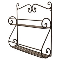 Candace Wall Rack | Joss and Main | $21.95 | Display petite trinkets atop this metal wall rack, or place it in the kitchen to keep spices right on hand. Its scrolling sides and planked shelves..
