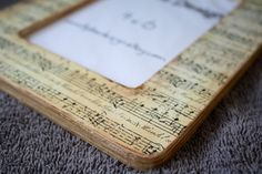 4x6 sheet music picture frame by TipToeDesign on Etsy, $10.00