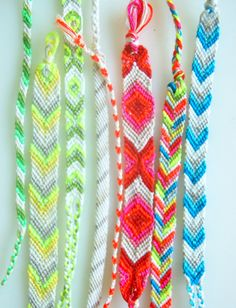 How to make friendship bracelets.