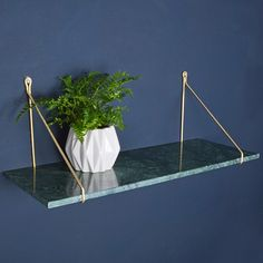 Sample Green Marble Shelf (with brackets) - available from MiaFleur Living Room Shelves, Living Room Flooring, My Living Room, Living Room Decor, Marble Desk, Marble Shelf, Green Marble, White Marble, Marble House