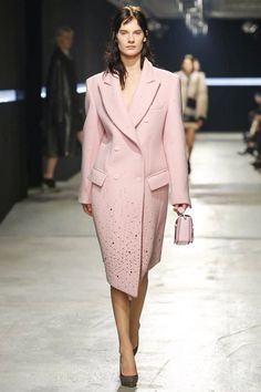 Pink coats are back for AW14 -from Christopher Kane