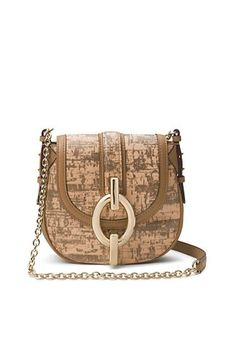 Sutra Mini Cork Leather Crossbody Bag In Natural