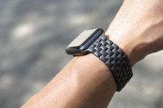 JUUK Locarno for the 42mm Space Grey Apple Watch Sport in a matte gunmetal finish